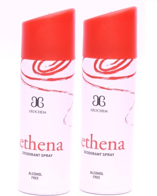 Arochem 2 x Ethena Deodorant Spray  -  For Men, Women