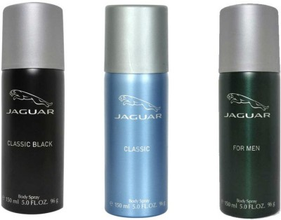 Jaguar Classic black, Classic and Men Deodorant Spray - For Men(450 ml)