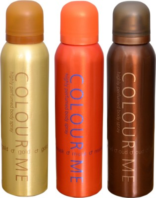 COLOR ME 1 HOMME GOLD::1 MUSK::1 OUDH DEO Deodorant Spray  -  For Men