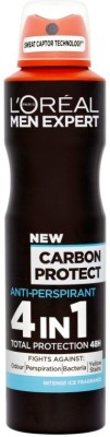 L'Oreal Paris Expert Carbon Protect Deodorant Spray  -  For Men(149 ml) at flipkart