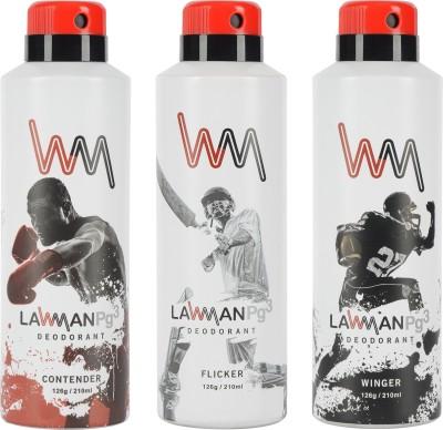 LAWMAN PG3 Winger Contender , Flicker Deodorant Spray  -  For Men