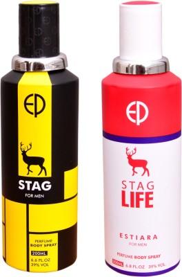 ESTIARA 1 STAG::1 STAG LIFE Deodorant Spray  -  For Men