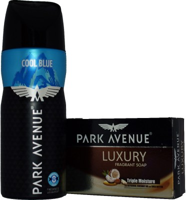 Park Avenue COOL BLUE WITH LUXURY SOAP Deodorant Spray  -  For Boys, Men