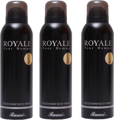 Rasasi 3 Royale Men Deodorant Spray - For Men