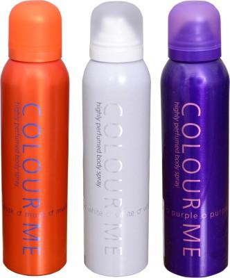 COLOR ME 1 MUSK::1 WHITE::1 PURPLE DEO Deodorant Spray  -  For Men