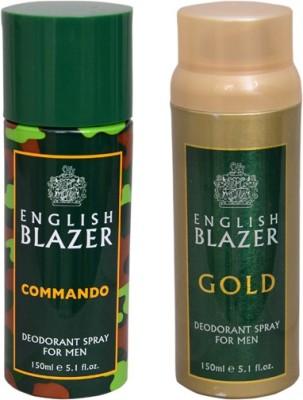 English Blazer 1 COMMANDO::1 GOLD Deodorant Spray  -  For Men