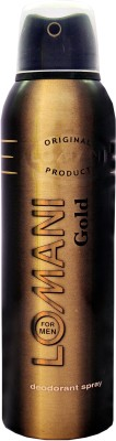 Lomani Gold Deodorant Spray - For Men