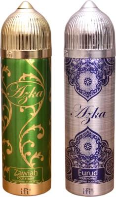 AZKA 1 ZAWIAH::1 FURUD Deodorant Spray  -  For Men, Women