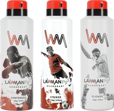 LAWMAN PG3 Contender , Striker, Flicker Deodorant Spray  -  For Men