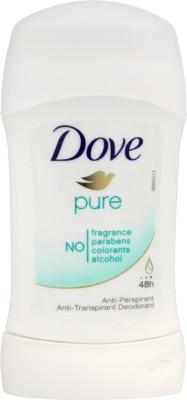 Dove Pure No Alcohol Anti-Perspirant Deodorant Stick  -  For Men, Women at flipkart