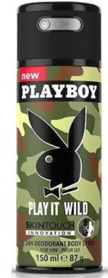 Playboy Play It Wild Deodorant Spray - For Boys, Men(150 ml)