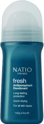 Natio Mens Fresh Antiperspirant Deodorant Roll-on  -  For Men