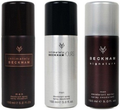 David Beckham Trio Deodorant Spray  -  For Men