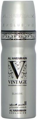 Al Haramain Vintage Classic Body Spray  -  For Men