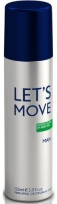 United Colors of Benetton Lets Move Deodorant Spray  -  For Men