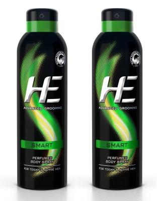 HE DEO Perfumed (SMART) 150 ml * 2 Body Spray  -  For Men