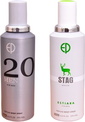 ESTIARA 1 20 MEN::1 STAG WHITE Deodorant Spray  -  For Men
