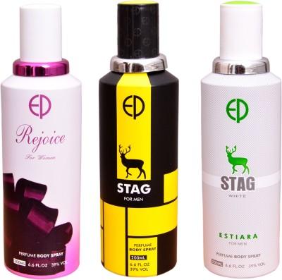 ESTIARA 1 REJOICE::1 STAG::1 STAG WHITE Deodorant Spray  -  For Men, Women