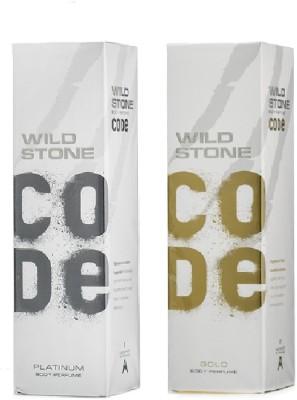 Wild Stone Platinum, Gold Body Spray  -  For Boys, Men