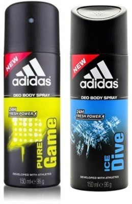Adidas pure game and ice dive Deodorant Spray  -  For Men