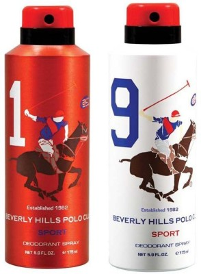 Beverly Hills Polo Club Combo Deodorants No 1 & 9 Body Spray  -  For Men