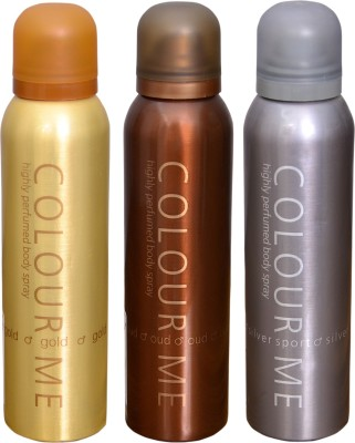 COLOR ME 1 HOMME GOLD::1 OUDH::1 SILVER SPORT DEO Deodorant Spray  -  For Men