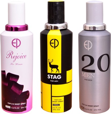 ESTIARA 1 REJOICE::1 STAG::1 20 MEN Deodorant Spray  -  For Men, Women