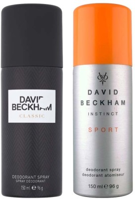 David Beckham Classic and Instinct Sport Deodorant Spray  -  For Men