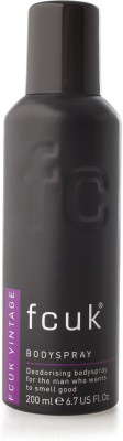 FCUK Vintage Deodorising Body Spray  -  For Men