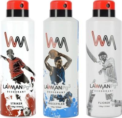 LAWMAN PG3 Striker, Freestyler, Flicker Deodorant Spray  -  For Men