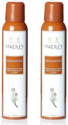 Yardley London sandalwood pack of 2 Body Spray  -  For Women