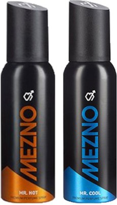 Mezno Fragrance Deodorant No Gas Deo- Combo of 2 Body Spray  -  For Men
