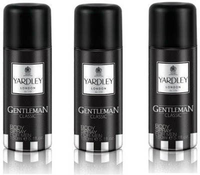 Yardley London Gentleman Body Spray  -  For Boys, Men