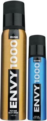 Envy1000 Rush Deo 130 Ml & Dark Spray Nano 40 Ml Deodorant Spray - For Men(170 ml)