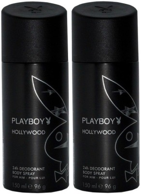 Play Boy Pack of 2 Hollywood Men Deo Deodorant Spray - For Men(300 ml)
