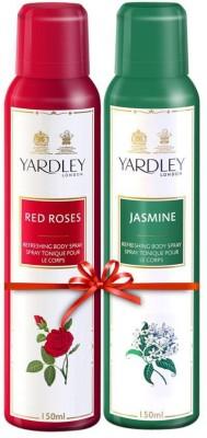 Yardley London Jasmine & Red roses Body Spray  -  For Women