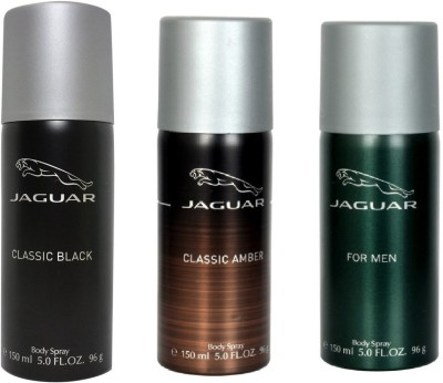 Jaguar Pack of 3 Men Deodorant Spray - For Men(450 ml)