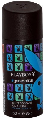 Playboy Generation Man Deo 150ml Deodorant Spray - For Men