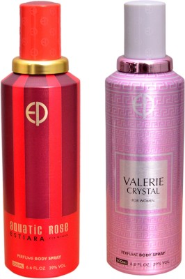 ESTIARA 1 AQUATIC ROSE::1 VALERIE CRYSTAL Deodorant Spray  -  For Men