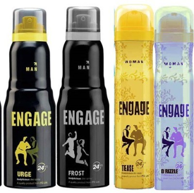 Engage Combo Set Of 4 Deodorant Spray  -  For Men
