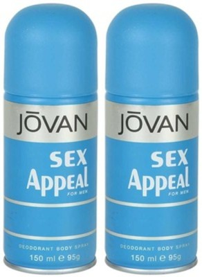 Jovan Sex Appeal Deodorant Spray 150ml Body Mist - For Men