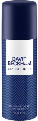 David Beckham Classic Blue Deodorant Spray  -  For Men, Boys