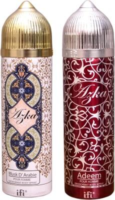 AZKA 1 MUSK D, ARABIE::1 ADEEM Deodorant Spray  -  For Men, Women