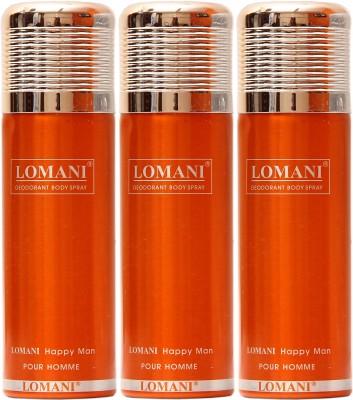 Lomani Happy Man Deodorant Spray  -  For Men, Women