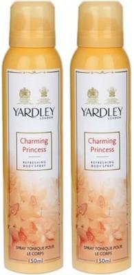 Yardley London charming princess pack of 2 Body Spray  -  For Women