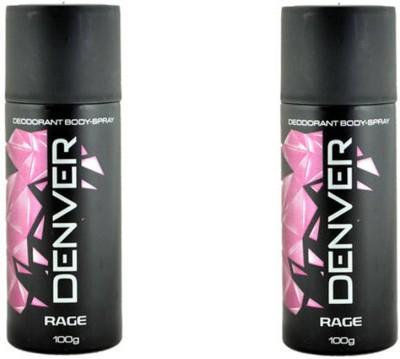 Denver Rage Deodorant Spray Pack Of 2 Body Mist  -  For Men