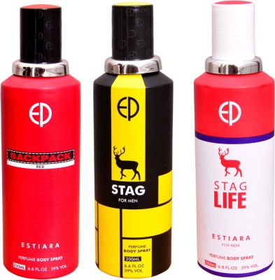ESTIARA 1 BACKPACK RED::1 STAG::1 STAG LIFE Deodorant Spray  -  For Men, Women