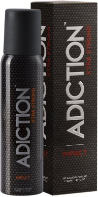 Addiction Xtra Strong impact Perfume Body Spray - For Men, Boys(122 ml)