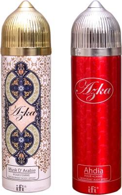 AZKA 1 MUSK D, ARABIE::1 AHDIA Deodorant Spray  -  For Men, Women