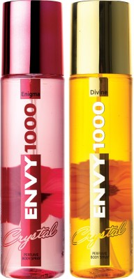 ENVY 1000 Enigma & Divine Crystal Deo Combo (Pack of 2) Body Spray  -  For Women